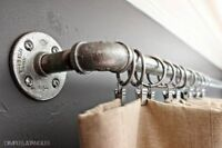 Vintage Curtain Rail / Pole - Custom Made from Industrial Pipe Fittings