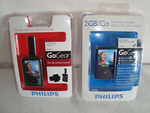 Phillips Gogear MP3 Player & Move Pack Lot Original Packaging SA3020 PAC017 2GB