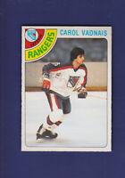Carol Vadnais 1978-79 O-PEE-CHEE OPC Hockey #85 (NM) New York Rangers