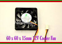 2pcs 12V 60x60x15mm DC Axial Cooling CPU Fan Computer Laptop Server 3D Printer