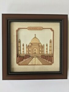 Taj Mahal Decor Art Handmade Wood Carving Indian Mughal Marquetry Handicraft