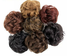 UK Large Thick Curly Messy Bun Hair Piece Scrunchie Updo Natural Hair Extension