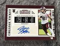 2019 Panini Contenders Jace Sternberger Auto Autograph Rookie RC Packers #252
