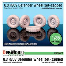 DEF.MODEL, DW35022, U.S RSOV Defender Sagged Wheel set (for Hobbyboss ), 1:35