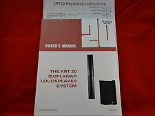 McIntosh XRT 20 Loudspeaker System Owners Manual