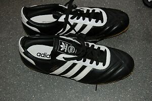 VINTAGE ADIDAS TRAINERS MENS SIZE UK 10 IN BLACK & WHITE NEVER WORN EXCELLENT