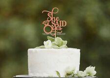 She Said Yes Cake Topper - Gold Engagement Hens Bridal Shower Wedding