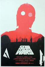 STAR WARS REPRO FILM MOVIE POSTER . C-3PO VERSION BY OLLY MOSS