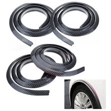4PC 1.5M Universal Rubber Car Wheel Arch Protection Moldings Mud Guard Door Trim