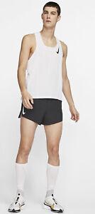 Nike Aeroswift Mens Running Singlet White Sz Large CJ7835-100