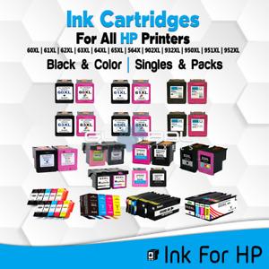 Ink Cartridge Fits HP Printer Black/Color 60 61 62 63 64 65 XL lot High Quality