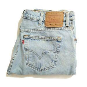 Levi Strauss levis 504s Denim Blue Jeans faded worn 90s 80s mom boyfriend 38w 29
