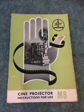 Vintage Original Paillard BOLEX cine Projector M8 & M8R instructions booklet