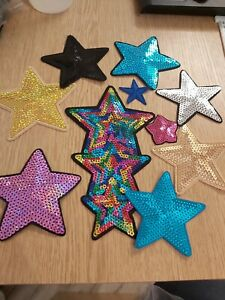 Star Patch motif applique multiple colors and variations availables G1 Discounts