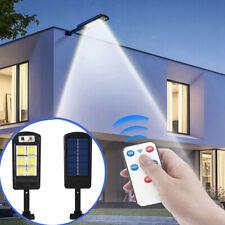 Commercial LED Solar Street Light Outdoor PIR Sensor Dusk-to-Dawn Lamp Remote