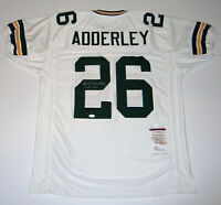 PACKERS Herb Adderley signed custom white jersey w/ HOF 80 JSA AUTO Autographed