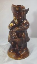 ANTIQUE STAFFORDSHIRE TREACLE-GLAZE TOBY JUG THE SNUFF TAKER WITH LID (DAMAGED)