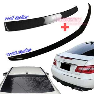 Carbon M-BENZ 10~16 C207 E class Coupe roof spoiler + A type trunk spoiler ◎