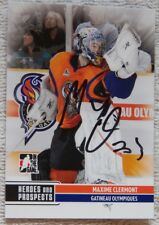 New Jersey Devils Maxime Clermont Signed 09/10 ITG H&P Gatineau Olympiques Auto