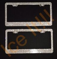 LAND ROVER LICENSE PLATE Mirror Chrome Heavy Duty 1mm Thick With Bolts /& Screws