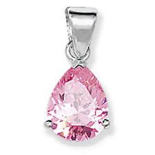 Collares y colgantes de bisutería color principal rosa circonita