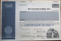 Blyth Industries, Inc. SPECIMEN Stock Certificate- Candles & Decorative Products