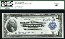 1918, $1 Fr 710 Large Size Frbn Pcgs 66- L@K