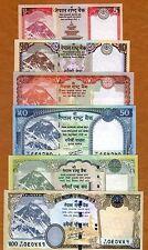SET Nepal, 5;10;20;50;100;500 Rupees 2012 P-New, Rastra Bank UNC Everest Animals