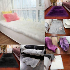 47 Types Fluffy Bedroom Faux Fur Fake Wool Sheepskin Rugs Carpet Floor Mat Home