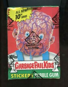 1987 Topps Garbage Pail Kids 10th Series Wax Box BBCE AUTHENTICATED
