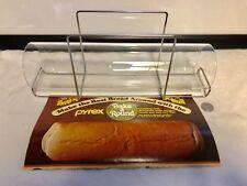 Vintage Pyrex Bake A Round-Bread Dough Glass Baking Tube & Chrome Holder