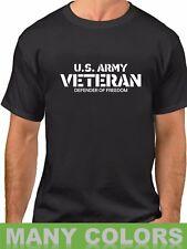 U.S. Army Veteran T-Shirt Defender Of Freedom Veterans Day Tee Shirt Military