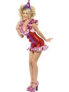 NEW FEVER PLAYTIME CLOWN SEXY FANCY DRESS UP COSTUME HALLOWEEN LADIES SZ M 12-14