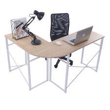 Schreibtisch Eckschreibtisch Winkeltisch Computertisch Tisch Holz Stahl TSG24hei