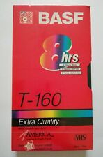 OEM Genuine BASF T-160 Extra Quality 8-Hrs Blank VHS Cassette Tapes - New Sealed