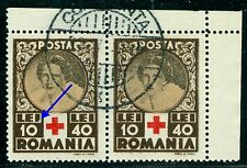 1945 Red Cross,Queen Mother,Cruz Roja,Croix Rouge,Romania,Mi.828,VFU,ERROR(2)