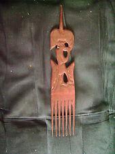 Peigne ethnique en bois sculpté 28 cm