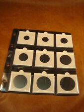 10 Hojas NUMISMATICAS transparentes, tamaño NUMIS; para 9 cartones (no incluídos