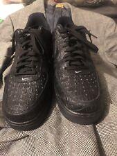 Nike Air Force 1 07 Lv8 Mens Sz 12 718152-002 Blk Croc Skin