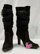 "Coach ""Randie"" Brown Mid Calf High Heel Boots SZ 6.5 A138KC"
