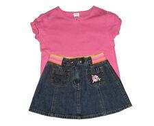 Gymboree Sunshine Daydream Girls Cotton Denim Skirt & Tee Size 4