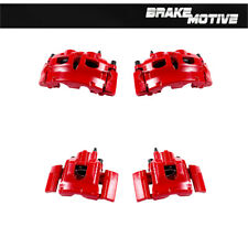 Front+Rear Red Powder Coated Brake Calipers For 2007 - 2009 Expedition Navigator