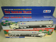 MOBIL 1993 No. 1 and No. 2 Plastic Tankers-Limited Editions-NIB-Red & Blue Box