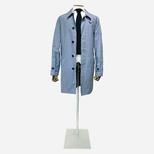 Turnbull & Asser Mac, Blue Check. Size 42 UK, 52 IT