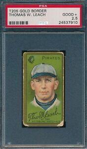 1911 T205 Thomas W Leach Piedmont PSA 2.5 *OBGcards*