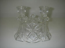 Anchor Hocking EAPC Prescut STAR of DAVID Clear Double Light Candlestick
