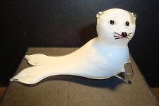 Genuine Handmade  Spun Glass ~Harp Seal~Figure~Ornament~Fish~Boxed~uk seller
