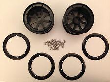 Fumi Alloy 2.2 8-spoke Bead Lock Wheel (2) for Axial Wraith - 20030bk (BLACK)