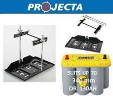 PROJECTA DUAL BATTERY SYSTEM TRAY AND HOLD DOWN KIT DEEP CYCLE AGM 100AH 130AH