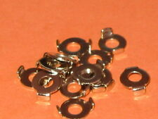 M4  COPPER EARTH CLAMPS NICKEL PLATED  WASHERS  QTY = 20